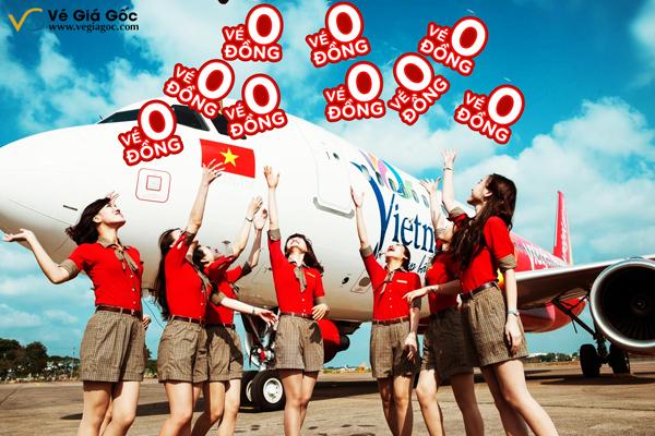 Vé máy bay 0 đồng từ chương trình khuyến mãi của Vietjet Air